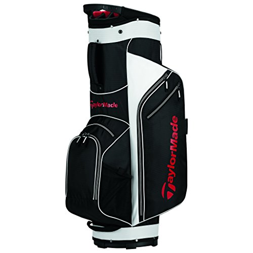 TaylorMade 2017 Golf Bag TM Cart Bag 5.0 BlkWhtRed, Black/White/Red