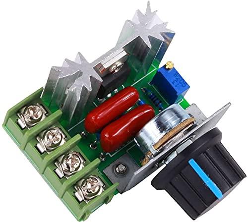 Sumedtec Controlador PWM de Motor de CA de Control de Velocidad 2000W Voltaje Ajustable Regulador 25A 50-220V LED Dimmer