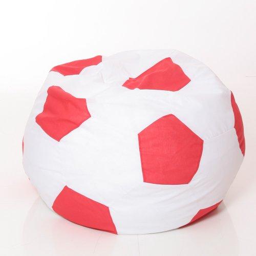 Osann Sitzkissen, Sitzsack, Polster-Möbel, Bodenkissen, WM-Fussball-Sitzsack, 180L - Babyblume Fussball, rot-Weiss