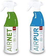 Recamania Airnet + Airpur spuitfles, reinigt en verwijdert geurtjes, airconditioning, 750 ml