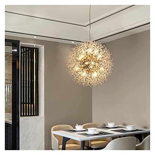 yywl candelabro 11 0V-240V Araña de Diente de león de Cristal nórdico Lámparas de iluminación románticas Personalizadas Creative HangLamp para la iluminación del hogar