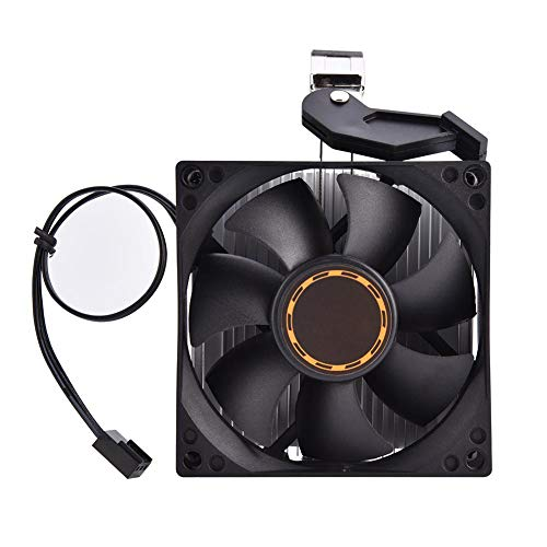 Annadue CPU Lüfter für AMD Athlon 64 5200, Leiser Computerlüfter, 3 Poliger PC Kühlkörper mit 30000 Stunden Arbeitszeit, (Schwarz)