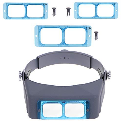 Gafas de protección para soldar, lupa de reparación en la banda para la cabeza, optivisor Eye Loupe, 4 lentes