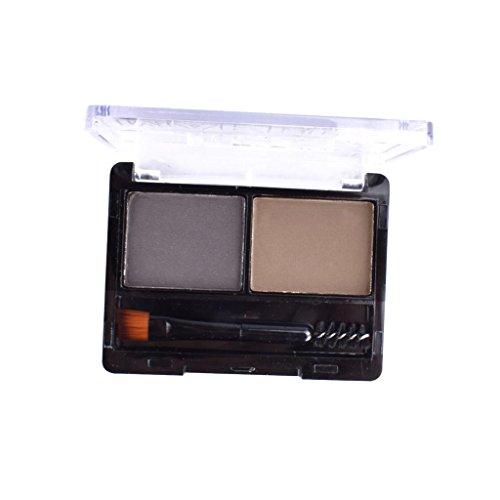 Toygogo 2 Couleurs Palette De Poudre De Sourcil Maquillage Cosmétique Kit D'ombrage De Nez De Pinceau - #B