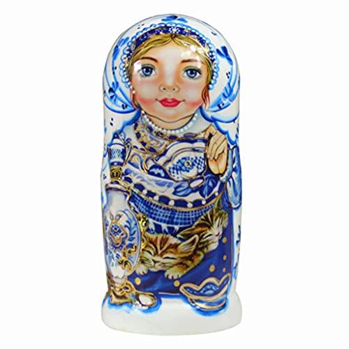 Xiaoli Matryoshka decoración Matryoshka 7-Capa Pintada de Doble Cara de 7 Lados de 7 Capas de la Historia de la Historia de la Boda del Regalo de cumpleaños de la Boda Matryoshka Muñeca Muñecas Rusas