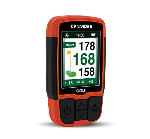 CANMORE Handheld Golf GPS HG200 - Water Resistant Full-Color Display with 38,000+ Essential Golf Course Data and Score...