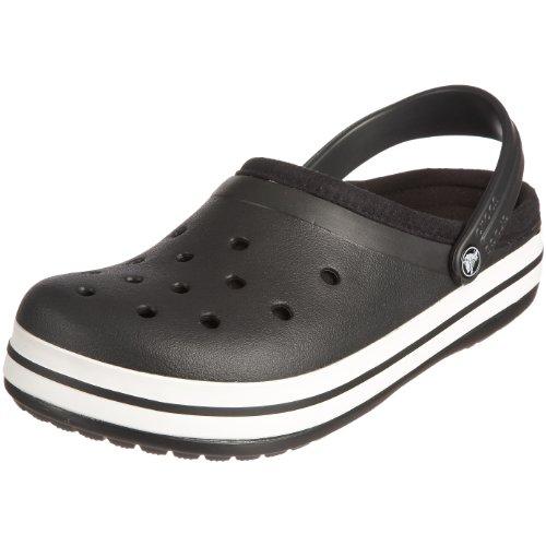 Crocs Crocband Lined, Zuecos Unisex, Negro (Schwarz (Black/Black Bzw. Blk/Blk), 41/42 EU