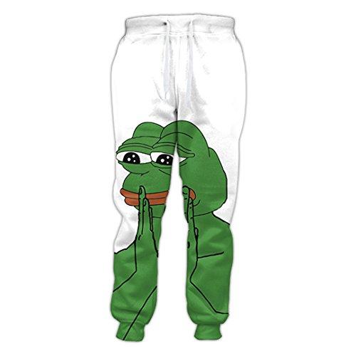 Lustige Cartoon Tier Pepe Joggers Anthropomorphic Frog Prince Charakter Hip Hop 3D Gedruckt Jogginghose Männer/Frauen Hosen Hosen Frog Prince M