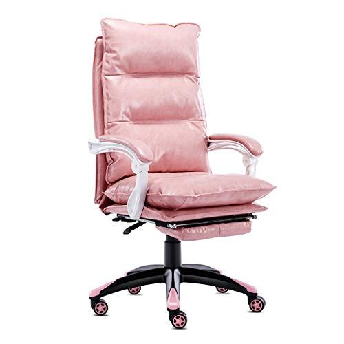 Chaise de Bureau Chaise Rose d'ordinateur Chaise Fille Chaise de Bureau à Domicile Chaise de Jeu électronique Chaise dortoir étudiant, Double Conception de Coton, Super Charge