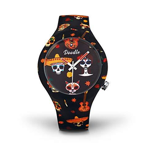 Doodle Watch? Reloj De Pulsera Para Él y para ella, 39mm de diámetro silicona  México tatoos  dosk005