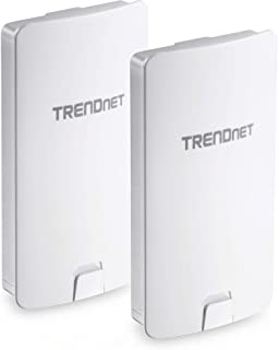 TRENDnet 14 DBI WiFi AC867 Outdoor Poe Preconfigured Point-to-Point Bridge Kit, 4 DBI Directional Antennas, for Point-to-P...