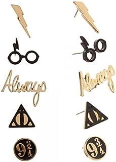 Harry Potter Logos 5 Pack Stud Earring Set