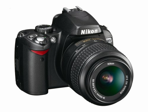 Nikon D60 DSLR Camera with 18-55mm f/3.5-5.6G Auto Focus-S Nikkor Zoom Lens