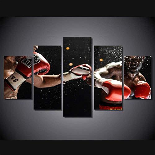 Affiche de match de boxe imprimée en Hd sur toile 5 pièces groupe peinture décor de la chambre impression affiche photo toile photo affiche sur toile 5 pièces affiche d'impression chambre d'enfan
