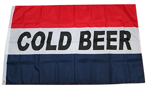 TrendyLuz Flags Cold Beer Banner Sign Flag 3x5 Feet