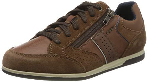 Geox Herren U Renan A Sneaker, Braun (Browncotto C6003), 43 EU