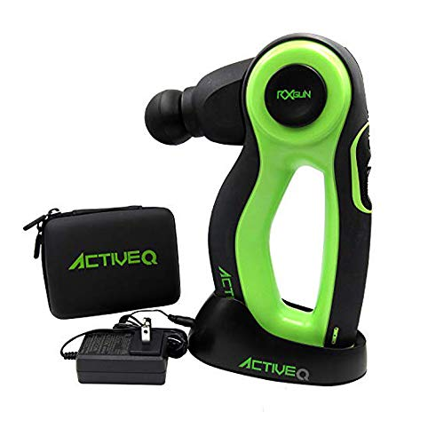 RxGun Active-Q True Percussion 16MM Amplitude Professional Electric Wireless Massager Rechargeable Handheld Massage Gun Body Muscle Pounding Vibration Therapy Tool w/Dock