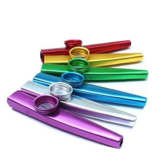 La Sustitución del Metal Duradero Kazoos Instrumentos Musicales Flautas Niños Guitarra Ukulele del Teclado De Piano 2pcs Color Al Azar