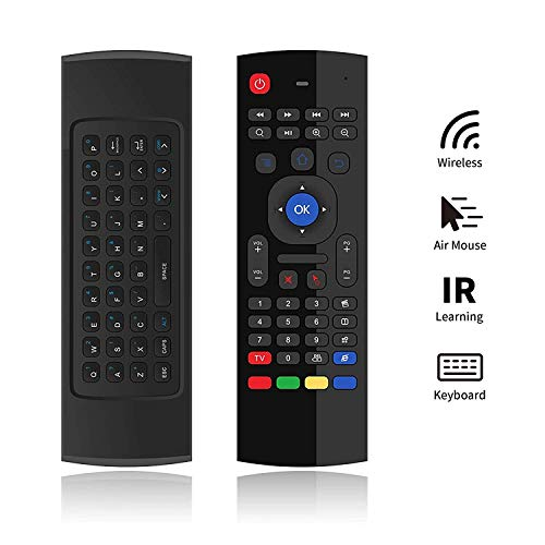 SleekView MX3 Air Maus 2,4 GHz kabellose Tastatur für Google Android Mini PC TV Box, T95N T95Z Plus QBox M8 M8S Plus T8 MXQ Pro MXIII