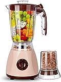 DHTOMC Cocina exprimidores centrífuga inversa Función 1,25 litros de Gran Capacidad for Frutas y hortalizas Batidora de 3 velocidades Ajustables Xping