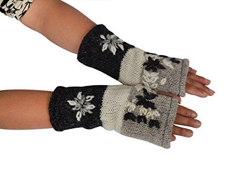 TATTOPANI Calientamanos guantes de lana estilo hippie hippyt