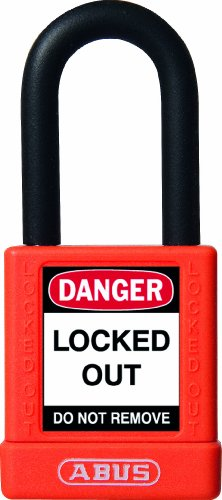 ABUS 59113 Non Conductive Lock Out Tag Out Anodized Aluminium Padlock -...