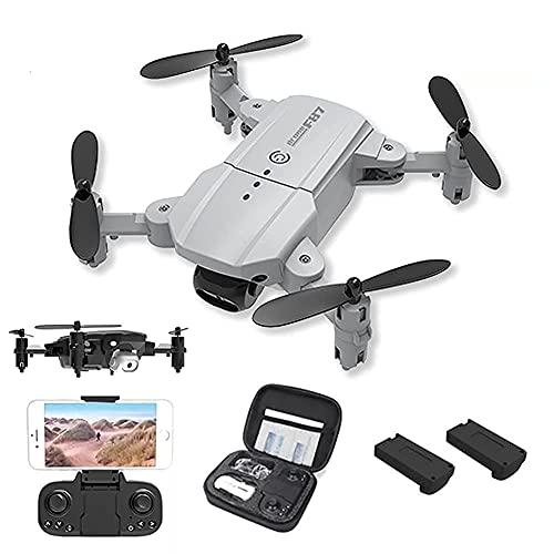 GAOFQ Mini Drone con cámara Drones RC Plegables para Adultos y Principiantes, Drone Ultraligero con cámara 4K HD, Flips 3D, WiFi FPV, Luz LED, Cámara Dual, Modo sin Cabeza, 2 baterías