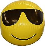 CREOFANT Pelota de agua XXL de 60 cm, pelota hinchable con emoticono, pelota de playa, pelota de agua, pelota de piscina, pelota de emoticonos, pelota de playa