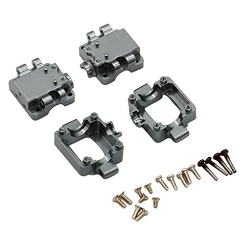 Sharplace 2 Piezas de aleación de Aluminio RC Car Gearboxes Set Caja de Cambios de Metal para WLtoys 1/28 K969 K989 P929 Control Remoto Coche Accesorios de - Grey