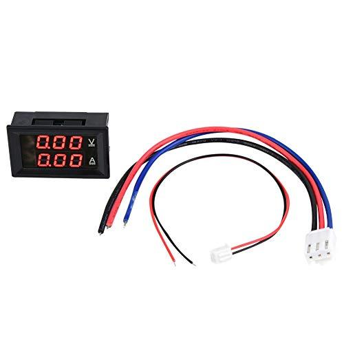 Voltímetro digital Amperímetro de 3 dígitos DC 0-100V 50A/100A Voltímetro Medidor Amperímetro Doble Panel LED Rojo Azul (1)