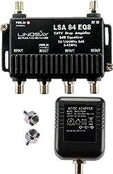 professional 4-port cable TV / antenna / HDTV / digital internet signal amplifier / amplifier / splitter / equalizer…