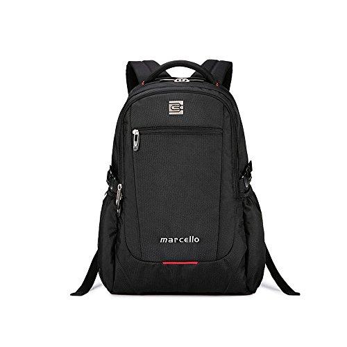 evay Slim Business 17Inch Laptop Zaino Borsa da viaggio impermeabile e resistente allo strappo Zaino per Notebook da uomini e donne fino a 17,3zaino nero
