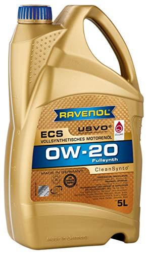 RAVENOL Eco Synth ECS SAE 0W-20 / 0W20 Vollsynthetisches Motoröl (5 Liter)