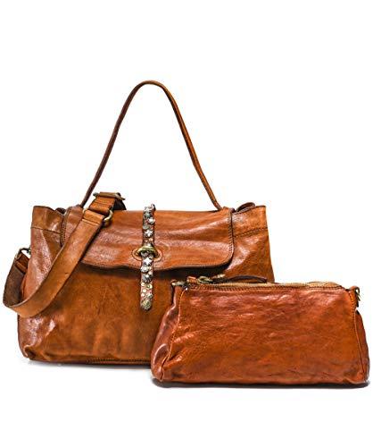 Campomaggi Handtasche Leder 32 cm