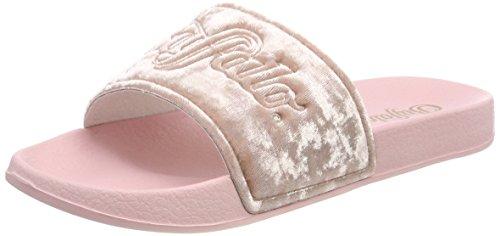 Buffalo Damen SN Miami Velvet Pantoletten, Pink (Rose 02), 37 EU
