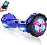 M MEGAWHEELS Hoverboard, Patinete electrico Auto Equilibrio 6.5 Pulgadas con Bluetooth, Fuerte Dual Motor y Hoverboard...
