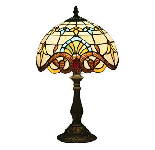 Balkonzubehör Lampe Runde pastorale rustikale Glasmalerei Dekoration Innenbeleuchtung E27