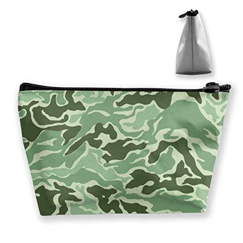 Trapezoid Makeup Pouch Storage Holder Camouflage Womens Travel Case Cosmetic Makeup Pouch