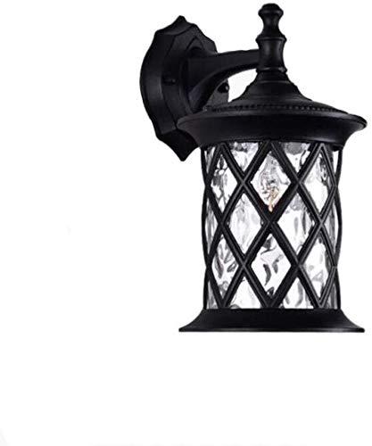 GAOJINXIURZ Aplique Pared Exterior Luz Solar Exterior De Pared Exterior de la Linterna de luz de Seguridad Resistente a la Intemperie Apliques Vintage lámpara de Pared (sin Bombilla)