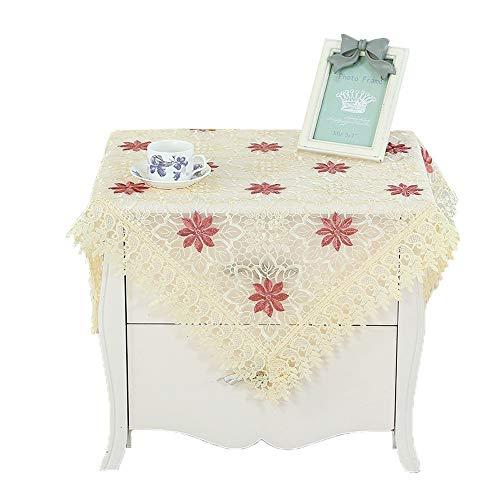 SHENAISHIREN Mantel de lino y algodón lavable soluble en agua, mantel cuadrado, mantel rectangular ideal para cocina, comedor, decoración de bufet (color: K, tamaño: 140 x 190 cm)