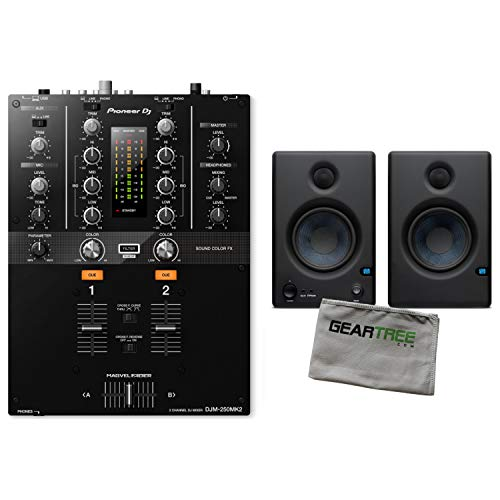 For Sale! Pioneer DJDJM-250MK2 2-Channel Scratch Mixer w/Studio Monitors and Cloth