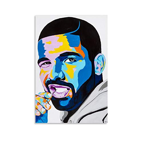 Drake Pop Art Painting Posters Canvas Art Poster and Wall Art Picture Print Modern Family Bedroom Decor Posters 16x24inch(40x60cm)