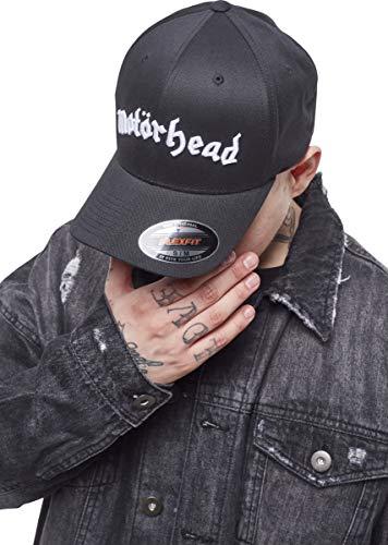 MERCHCODE Motörhead Flexfit - Gorra de béisbol Unisex para Adultos con Bordado del Nombre de la Banda, Unisex Adulto, Gorra, MC109, Blk, Extra-Large