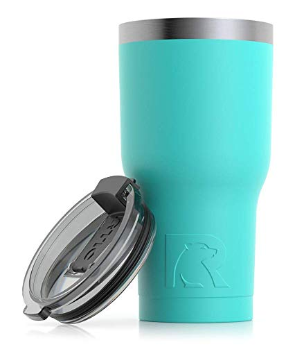 RTIC Insulated Travel Tumbler, Stainless Steel Mug, Hot Or Cold Drinks, with Splash Proof Lid, 20Oz, Teal