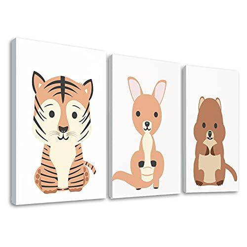 Leuke Baby Dier Foto's Prints voor Kwekerij Muur Decor Jongens Slaapkamer Speelkamer Decoraties Tijger Kangaroo Unframed