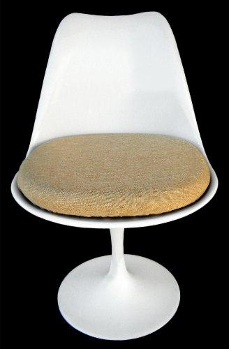 Tan Tulip Chair Cushion Cover - Poly Linen
