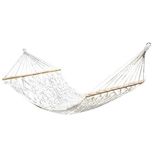 flouris Outdoor Leisure Double Hammock, Portable Cotton Rope Double Wide Hammock Camping Hammock Bed - 100KG Hanging For Outdoor & Indoor
