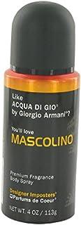 طراحی طراح Mascolino توسط PARFUMS DE COEUR FOR MEN 4 oz اسپری بدن