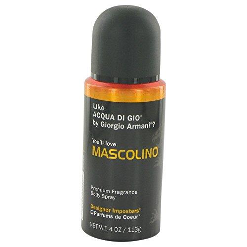 Designer Imposters Mascolino By PARFUMS DE COEUR FOR MEN 4 oz Body Spray