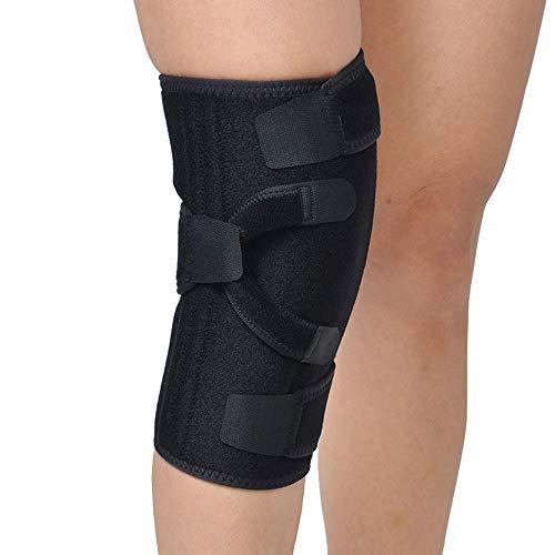 AOPAWOX Verstellbare Kniebandage meniskus, Knieschiene - Stabilisator für das rechte oder Linke Bein, Unterstützung für Knie und Muskeln,Left